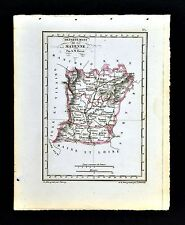 1841 Perrot France Map Departement Mayenne - Laval Chateau Gontier Meslay Aignan
