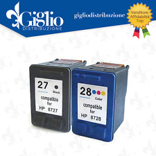 CARTUCCE PER HP 27 NERA HP 28 COLOR KIT DA 2 COMPATIBILI