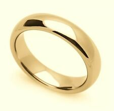 Solid 14K Yellow Gold 4 MM Size 8 Comfort Fit Wedding Ring Band Mens Womens