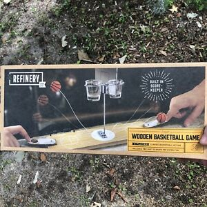 Wooden Basketball Drinking Game Party Fun Shots Beer Pong NEW In Box