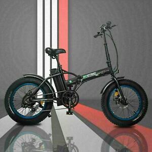 "20"" 48V 12.5 AH 500W Folding Electric Fat Tire Bike Bicycle City Ebike LCD"