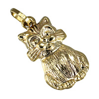 9ct Gold Hollow Cat Charm