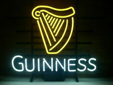 "New Guinness Harp Neon Light Sign 20""x16"" Beer Cave Gift Lamp Artwork Glass"