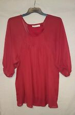 Mink Pink Ladies Top in a Burnt Orange with Sheer Overlay and Sleeves Size 10