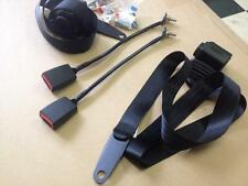 NEW BLACK FRONT RETRACTABLE SEATBELTS WITH STALKS SUIT XD XE XF