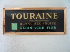 Original 1960's French Wine Advertising Sign Touraine Gerin Fine Wine