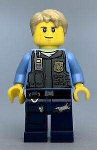 Lego City CHASE MCCAIN (UNDERCOVER POLICE) Minifigure cty0356 FAST SHIPPING!