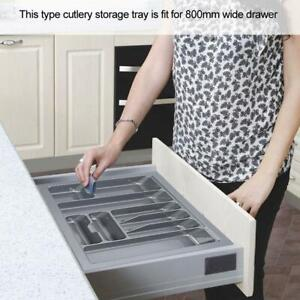 LARGE CUTLERY TRAY 9 COMPARTMENT TIDY DRAWER ORGANISER KITCHEN UTENSIL ESE-UK
