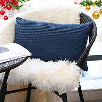 Decorative Lumbar Throw Pillow Covers Soft Rectangle Cushion Covers with Zipper