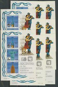 [P906] Argentina 1993 philatelic expo good sheets very fine MNH (8x) val $48