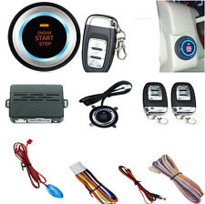 Car Auto One Key Start Push Button Alarm System with Remote Control & LED Light