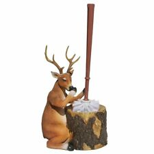 Stinky Deer Resin Toilet Brush and Holder - Rustic Lodge Decor