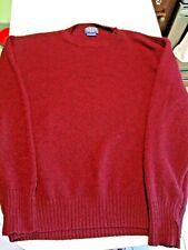 Pendleton Shetland Sweater Crewneck L Burgundy Trad Preppy Shaggy Dog