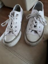 Converse Cuero Blanco Talla 4