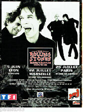 PUBLICITE ADVERTISING 096  1998  les Rolling Stones  en concert radio NRJ