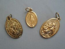 Vintage 3 Charms Antique Gold Tone Tags Italy,1981