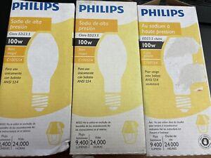 3 Philips 140953 High Intensity High Pressure Sodium 100-Watt ED23 (L5)
