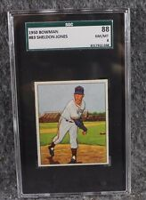 Vintage Baseball Card MLB 1950 Bowman SGC 88 NM/MT 8 Sheldon Jones Only 1 Higher