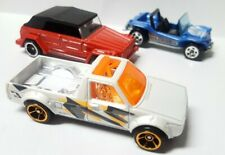 Lot Of 3 Hot Wheels Volkswagen Caddy Pickup Truck Thing & Dune Buggy 1:64 Loose