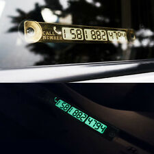 2x Practical Fashion Gold luminous Move car Phone number Temporary parking card
