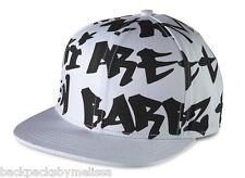 "Nicki Minaj HAT NeW White and Black ""BARBZ"" Baseball Cap Adjustable Strap"