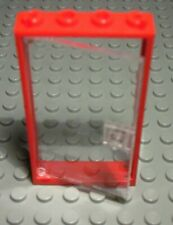 Lego Tür 1x4x6 Dunkelgrün mit Transparenter Scheibe 2610