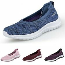 Womens Ladies Mesh Breathable Sneakers Trainers Sports Running Slip On Shoes B
