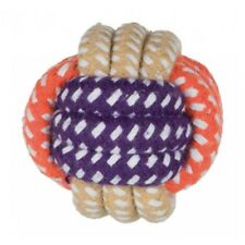 Rope Ball, Ø 6cm - Dog Toy Ball Trixie Cotton Mix Throw Fetch Games Strong