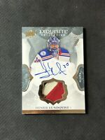 2016-17 UD EXQUISITE HENRIK LUNDQVIST ENDORSEMENTS RELICS AUTO PATCH #ed 17/25