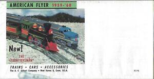 1959-60 AMERICAN FLYER TRAINS FOLDER CATALOG D2146 MINT CONDITION