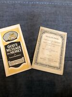 2 Vintage Church Flyers Era 1920's