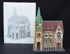 Vtg 1986 Heritage Village Christmas City Series Dept 56 All Saint Corner Church