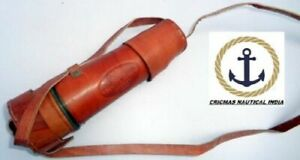 Telescope Brass Antique London Pirate Nautical Collectible Spyglass cap belt gif