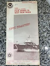 Vtg 1974 FL Palm Shores To West Palm Bch Nautical Chart 11472 Map 13th Ed. NOAA