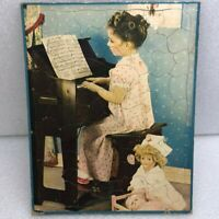 Vintage Walzer Puzzle Complete 1940's Girl Playing Piano w/ Doll Nurse Music EX
