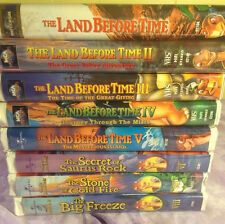 The Land Before Time VHS Lot of 8 childrens Dinosaurs  movies 1 2 3 4 5 6 7 8