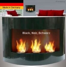 Fireplace Marseille-Noir for Gel or Ethanol / Made in Germany / fire place bio