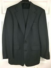 Oscar De La Renta Gray Mens Suit Pants 32 Jacket Size 40R 100% Wool