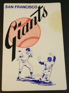 Vintage 1960's San Francisco Giants Advertising Cardboard Sign 8x11