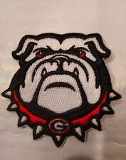 "UGA University of  Georgia Bulldogs Vintage Embroidered Iron On Patch  3"" x 3"""