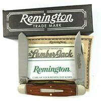 1997 Remington Lumber Jack Bullet Knife WOOD Muskrat Moose R4468 + Box 5487-OT