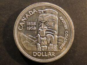 Canada.  Dollar, 1958, British Columbia.