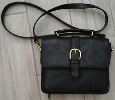 Worthington Navy Blue Genuine Leather Crossbody Satchel Handbag   Size S (8x7x2)