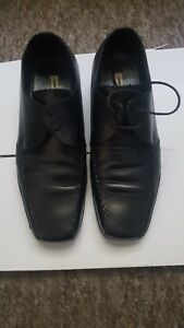 Jimmy Bee Black Square Toe  Leather shoes size 7