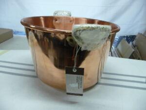 Williams Sonoma copper Party Tub PLEASE READ DESCRIPTION Brass handles