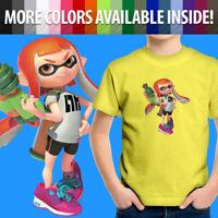 Nintendo Splatoon Orange Inkling Girl Video Game Unisex Kids Youth T-Shirt Tee