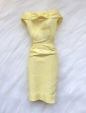 Barbie Silk Sheath Pak Robe Jaune Pale /yellow Dress/ Mattel 1962 Très Bon État
