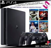 PS4 PLAYSTATION 4 500GB 2 MANDOS FIFA 2018 + CALL OF DUTY + GT SPORT + GTAV PACK