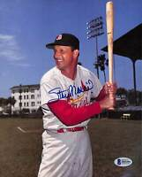 Cardinals Stan Musial Authentic Signed 8x10 Photo Autographed BAS 1