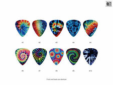 Tie Dye Pattern Guitar Pick Set (10pcs) BUY 2 SAME GET THE 3RD FREE